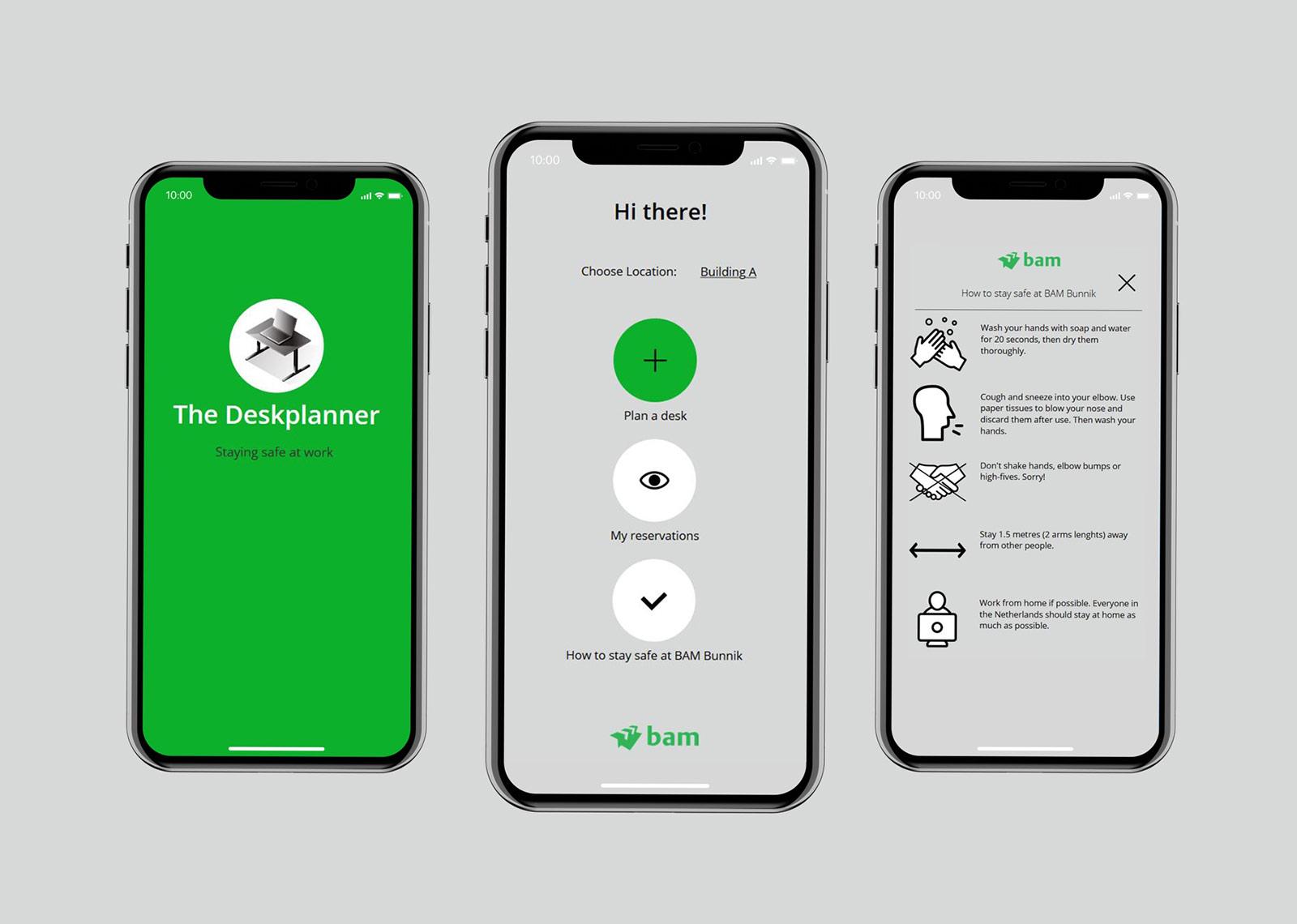deskplanner app bij bam
